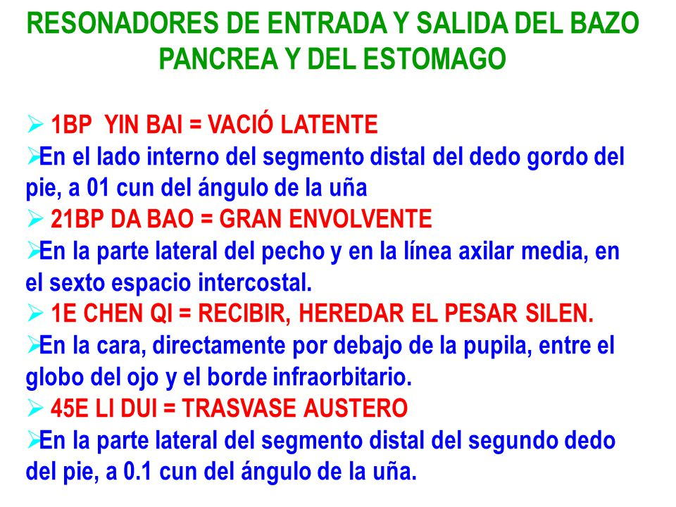 RESONADORES DE ENTRADA Y SALIDA DEL BAZO PANCREA Y DEL ESTOMAGO