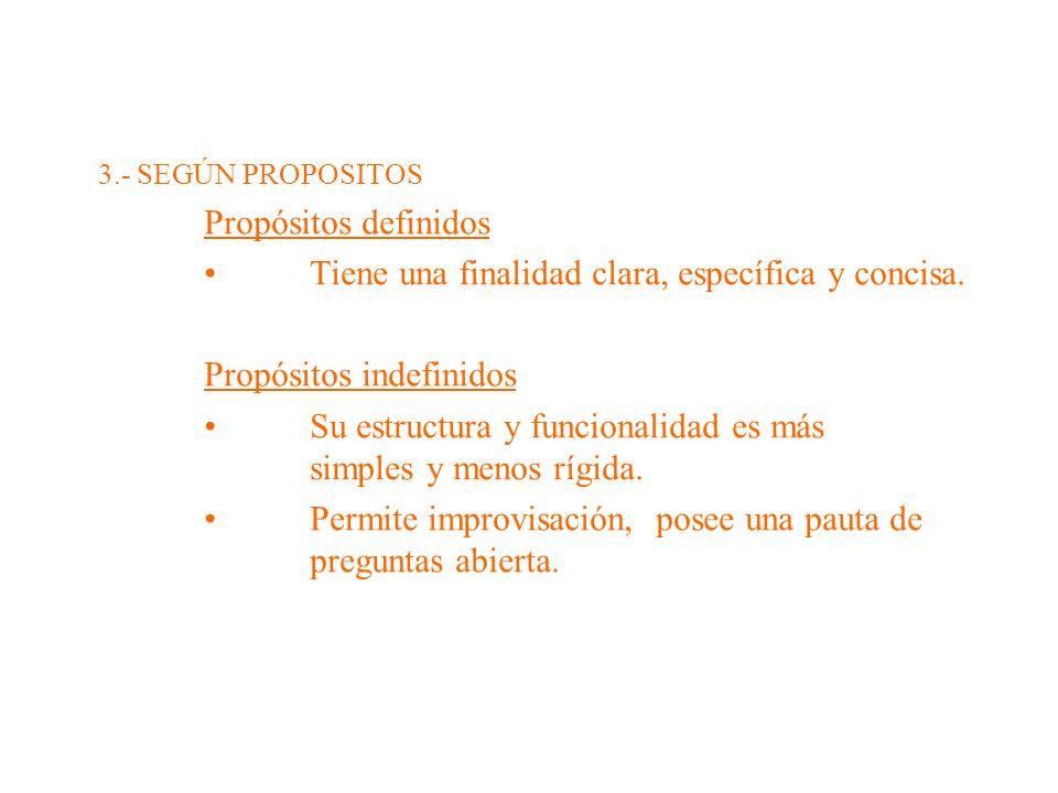 • Tiene una finalidad clara, específica y concisa.