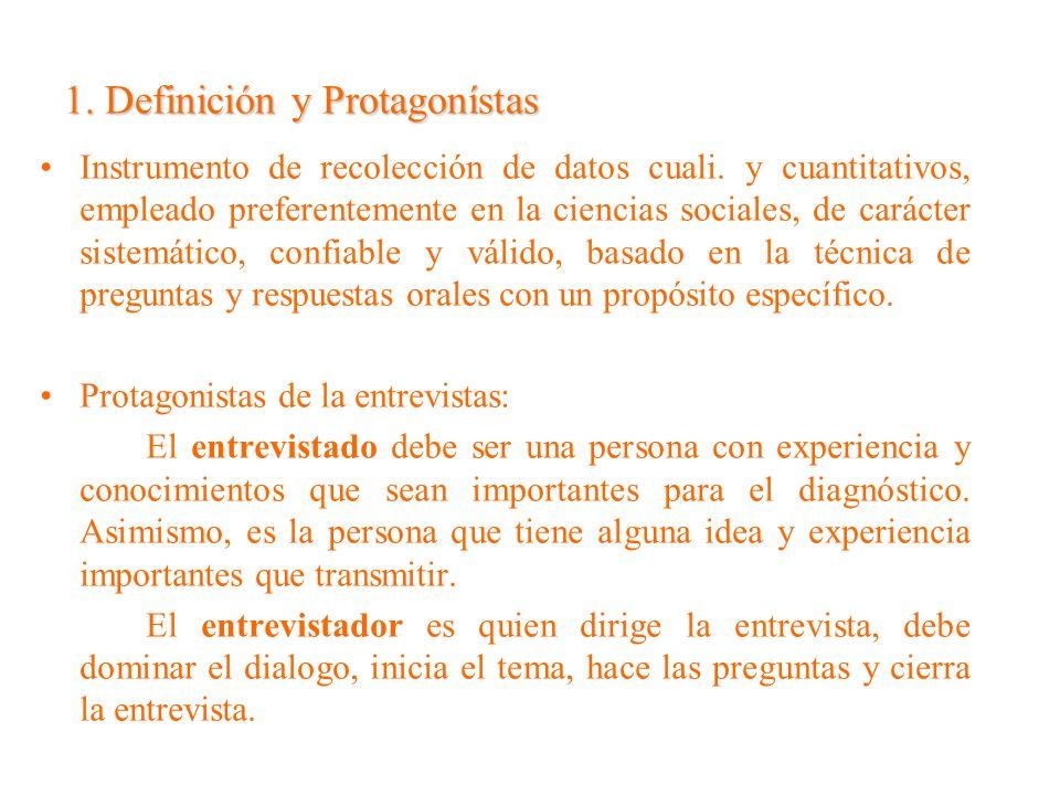 1. Definición y Protagonístas