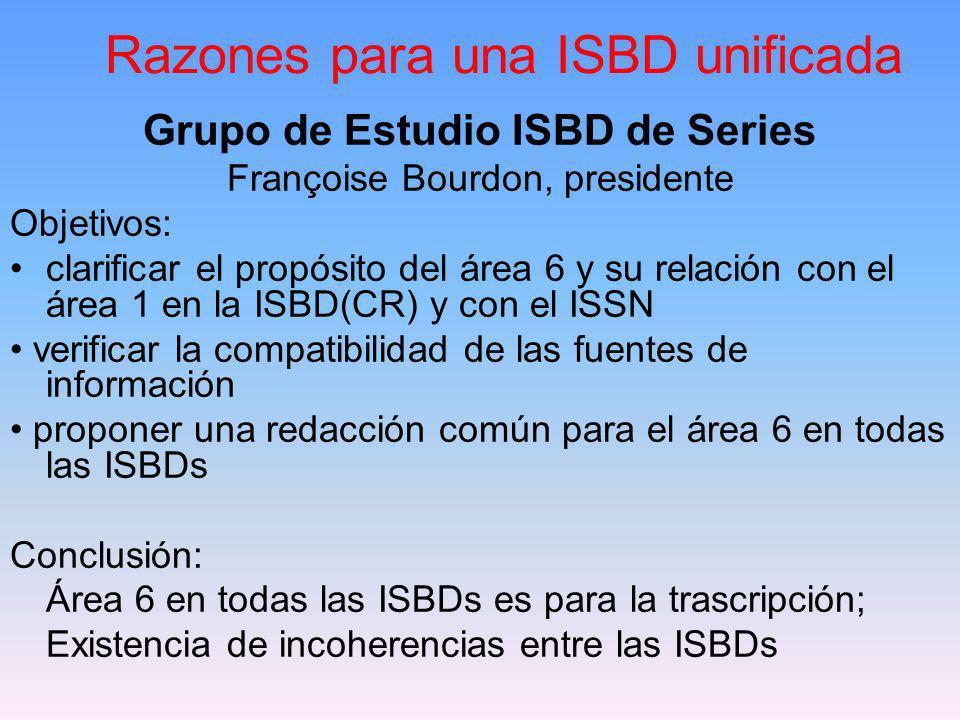 Razones para una ISBD unificada