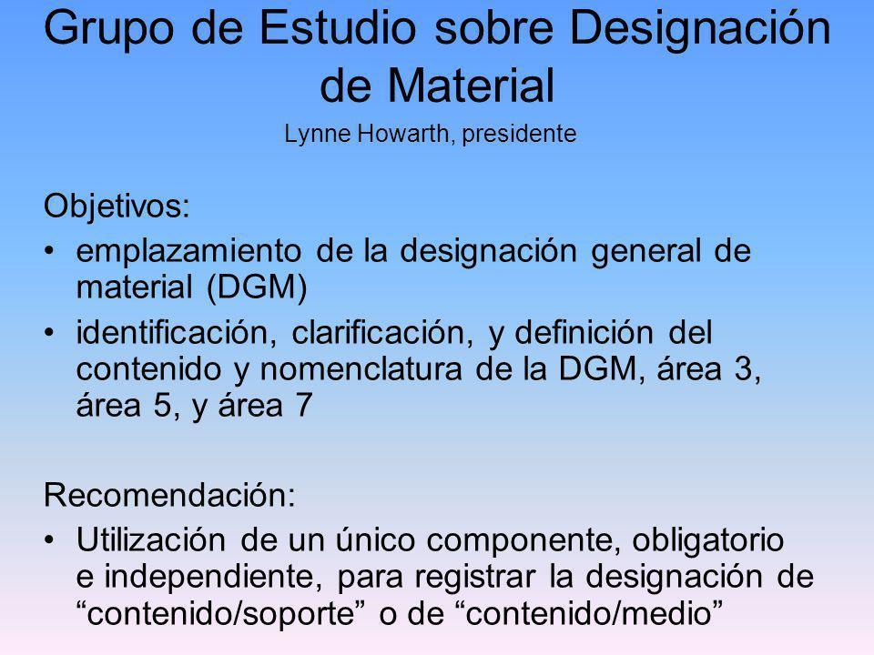 Grupo de Estudio sobre Designación de Material