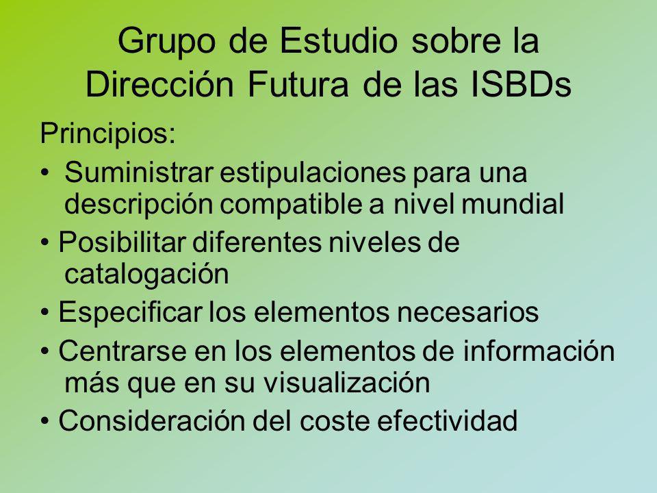 Grupo de Estudio sobre la Dirección Futura de las ISBDs