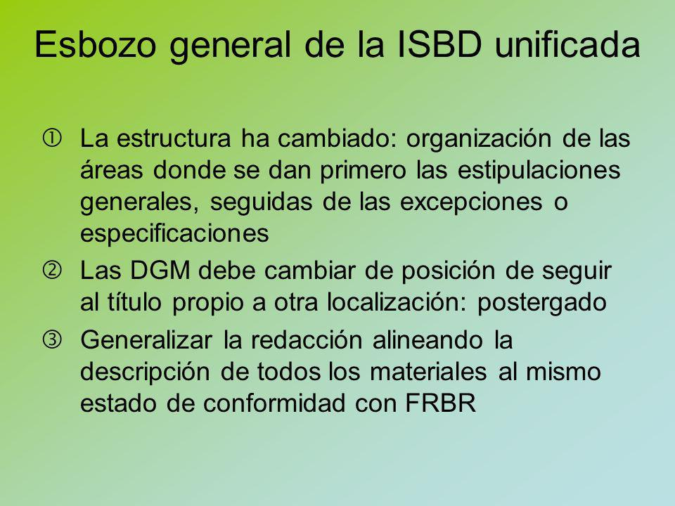 Esbozo general de la ISBD unificada