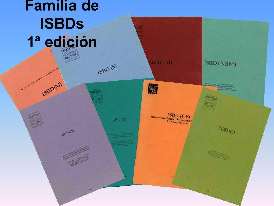Familia de ISBDs 1ª edición