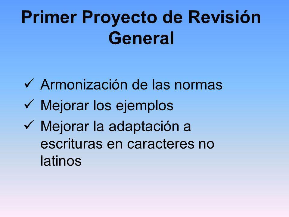 Primer Proyecto de Revisión General