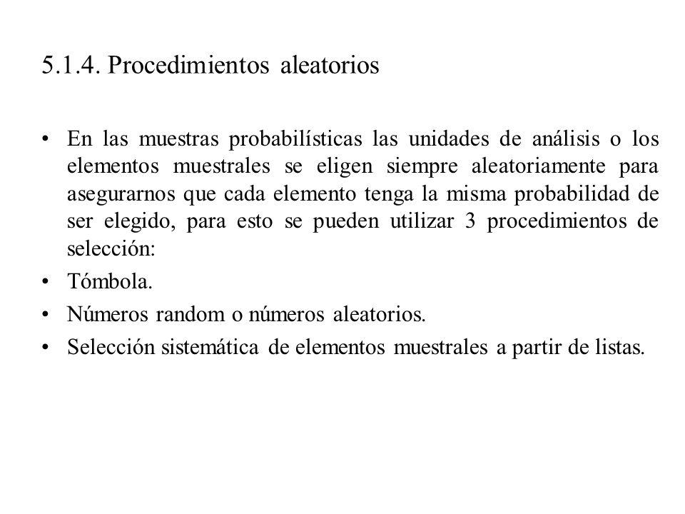 5.1.4. Procedimientos aleatorios
