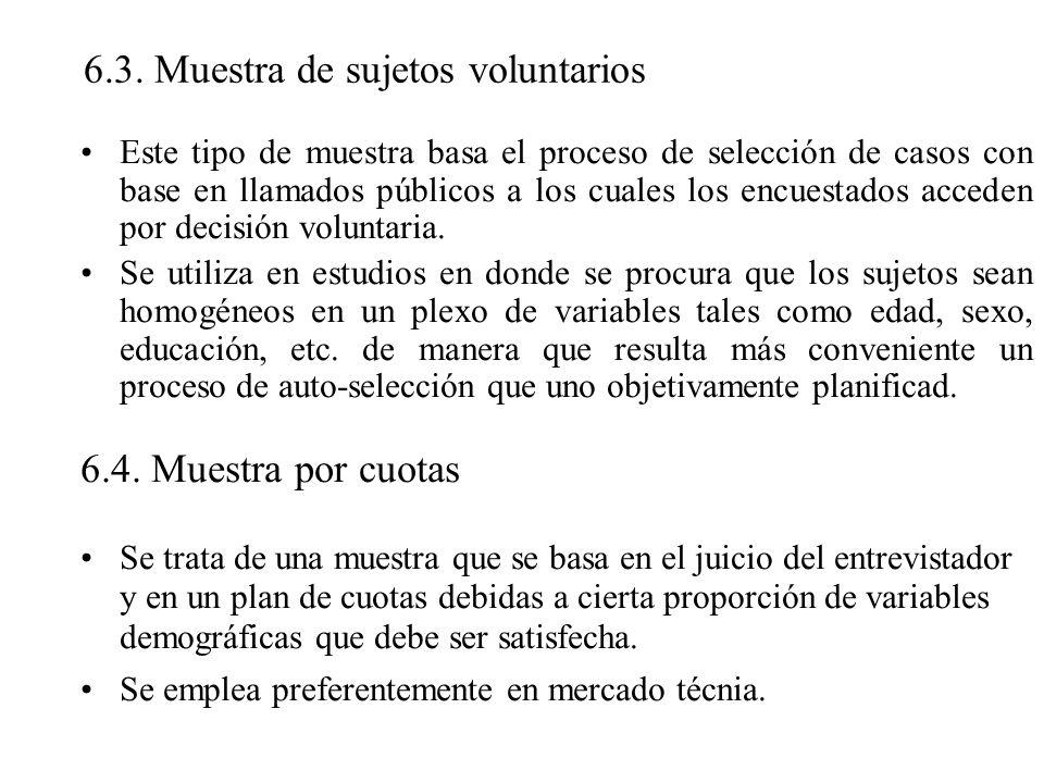 6.3. Muestra de sujetos voluntarios