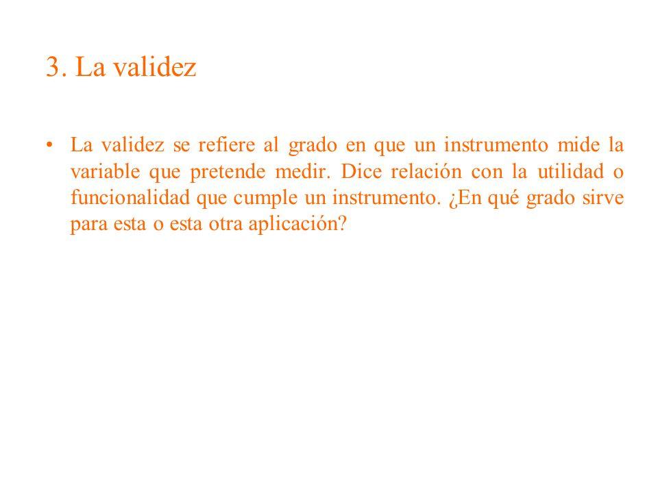3. La validez