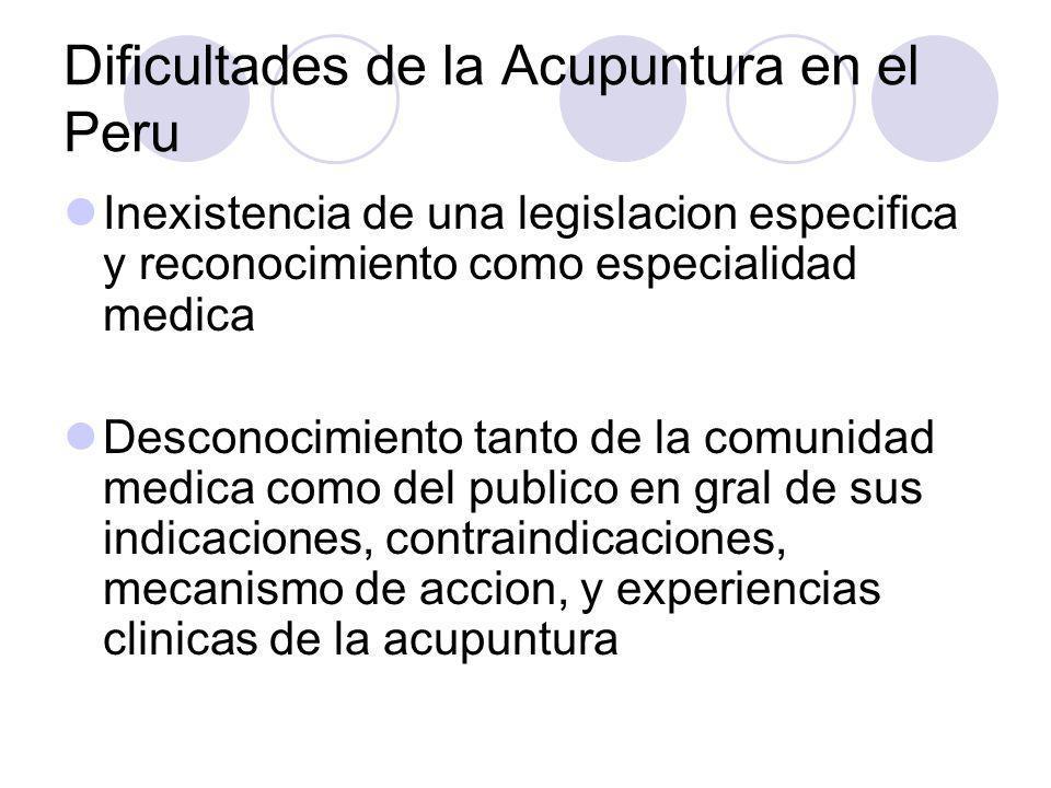 Dificultades de la Acupuntura en el Peru