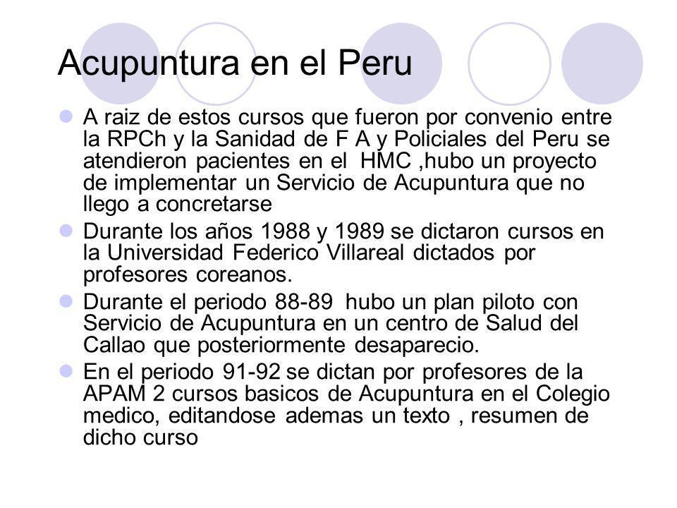 Acupuntura en el Peru