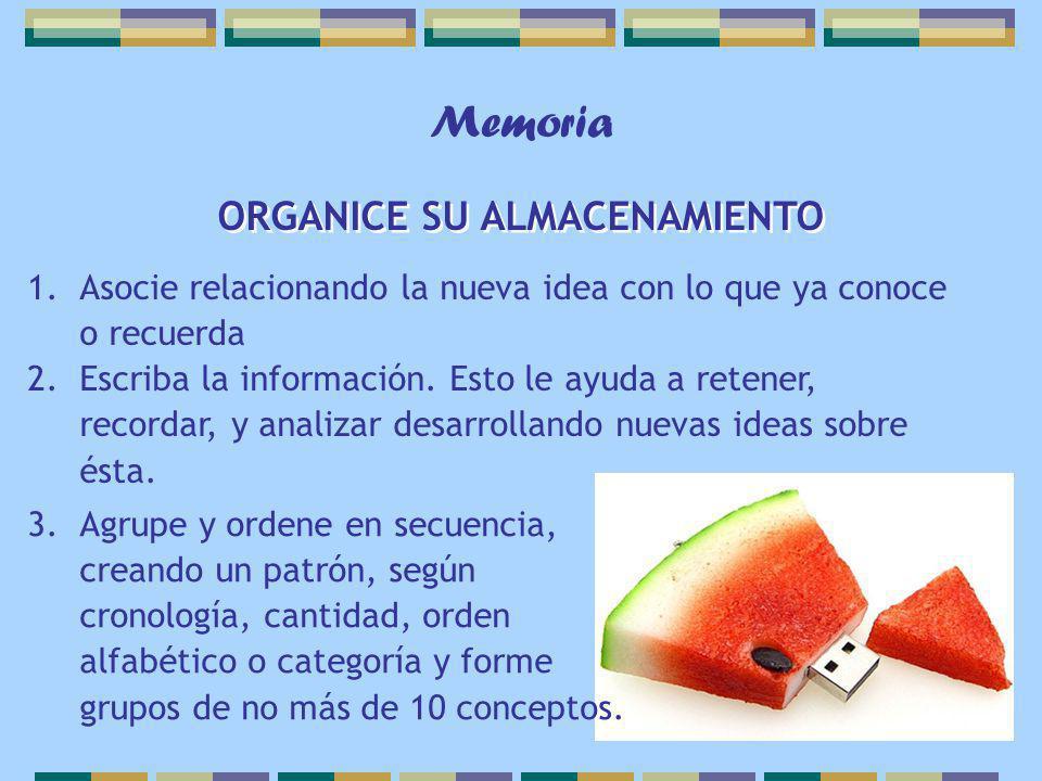 ORGANICE SU ALMACENAMIENTO