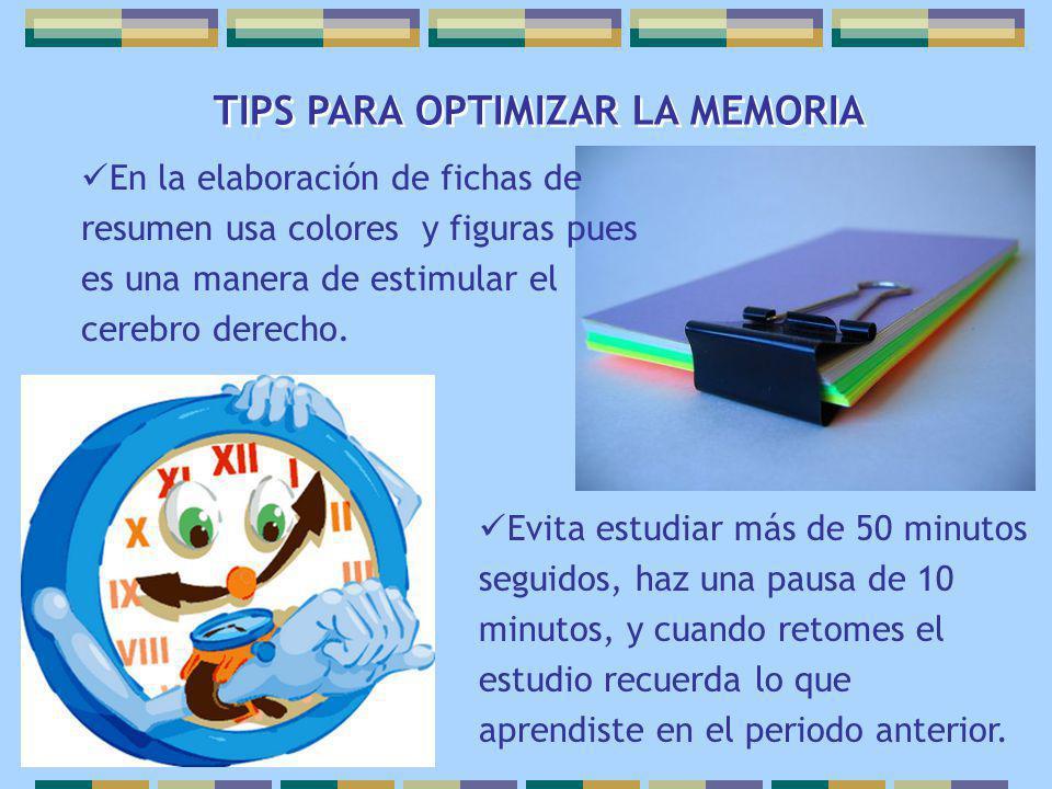 TIPS PARA OPTIMIZAR LA MEMORIA