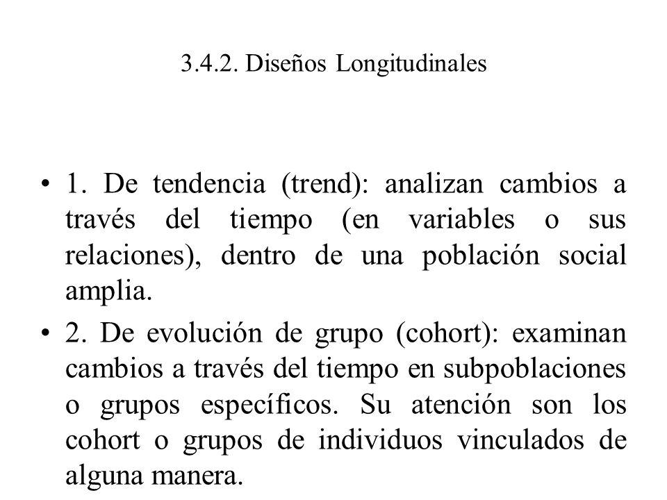 3.4.2. Diseños Longitudinales