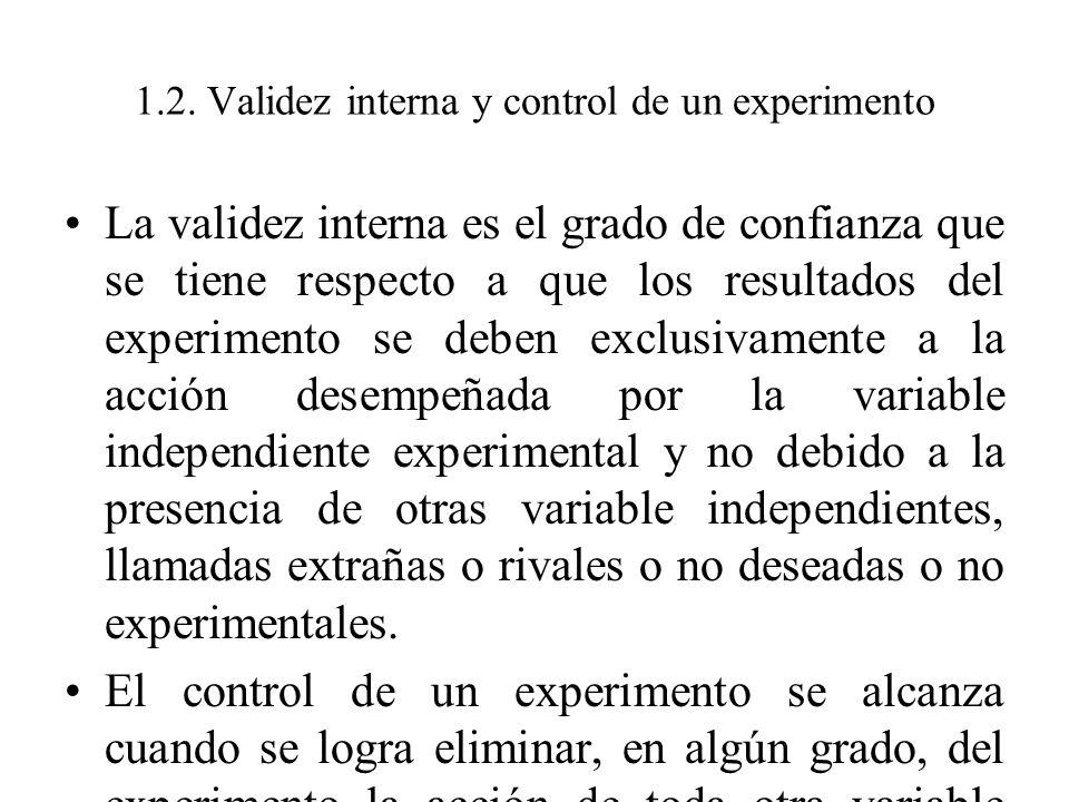 1.2. Validez interna y control de un experimento