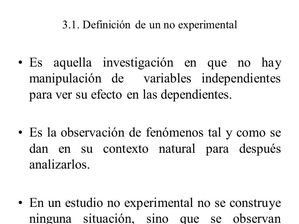 3.1. Definición de un no experimental