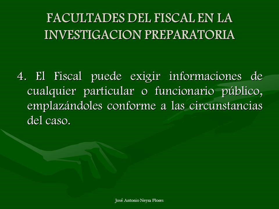 FACULTADES DEL FISCAL EN LA INVESTIGACION PREPARATORIA