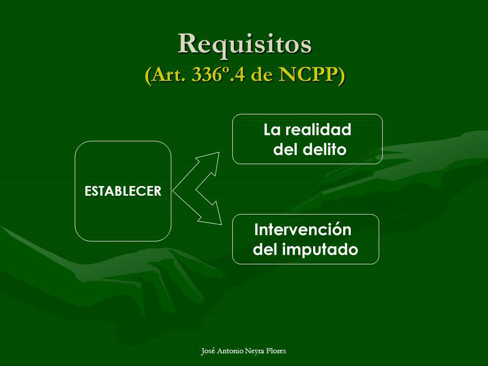 Requisitos (Art. 336º.4 de NCPP)