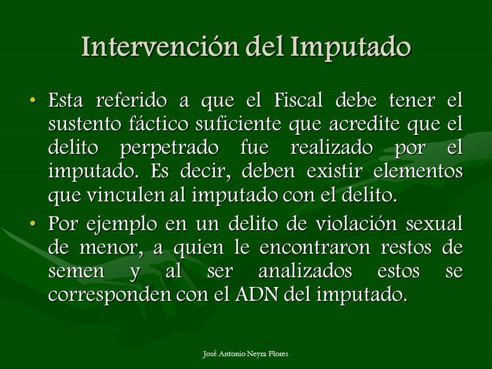 Intervención del Imputado