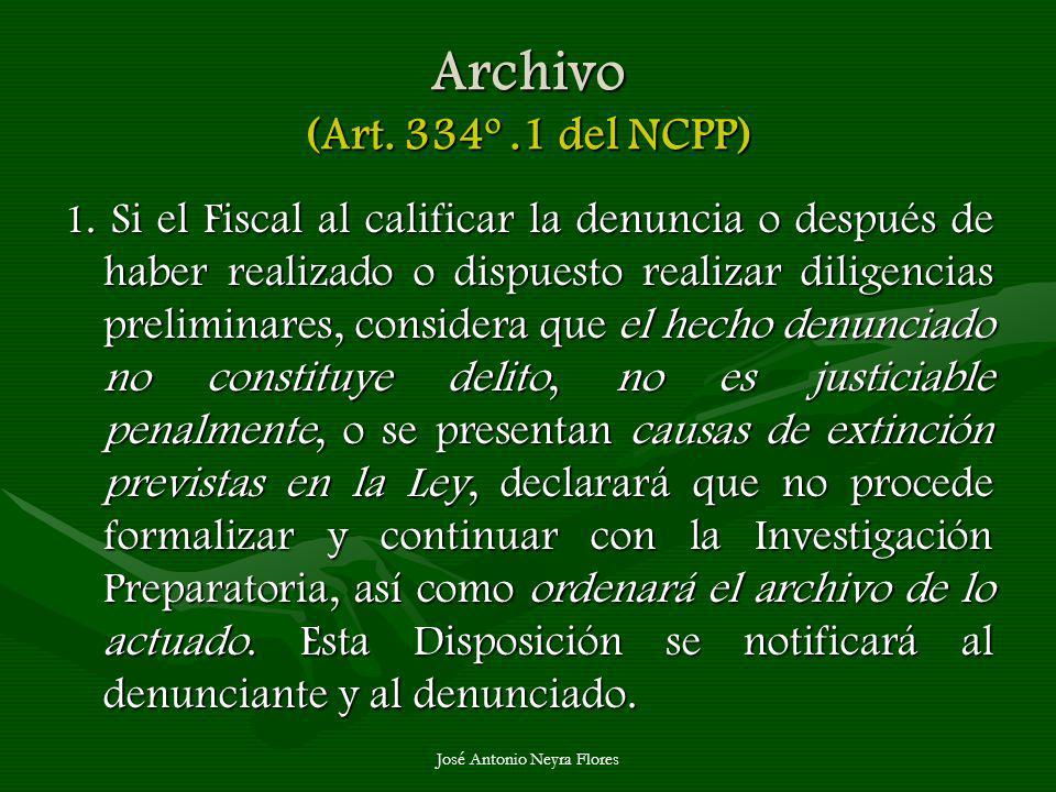 Archivo (Art. 334º .1 del NCPP)