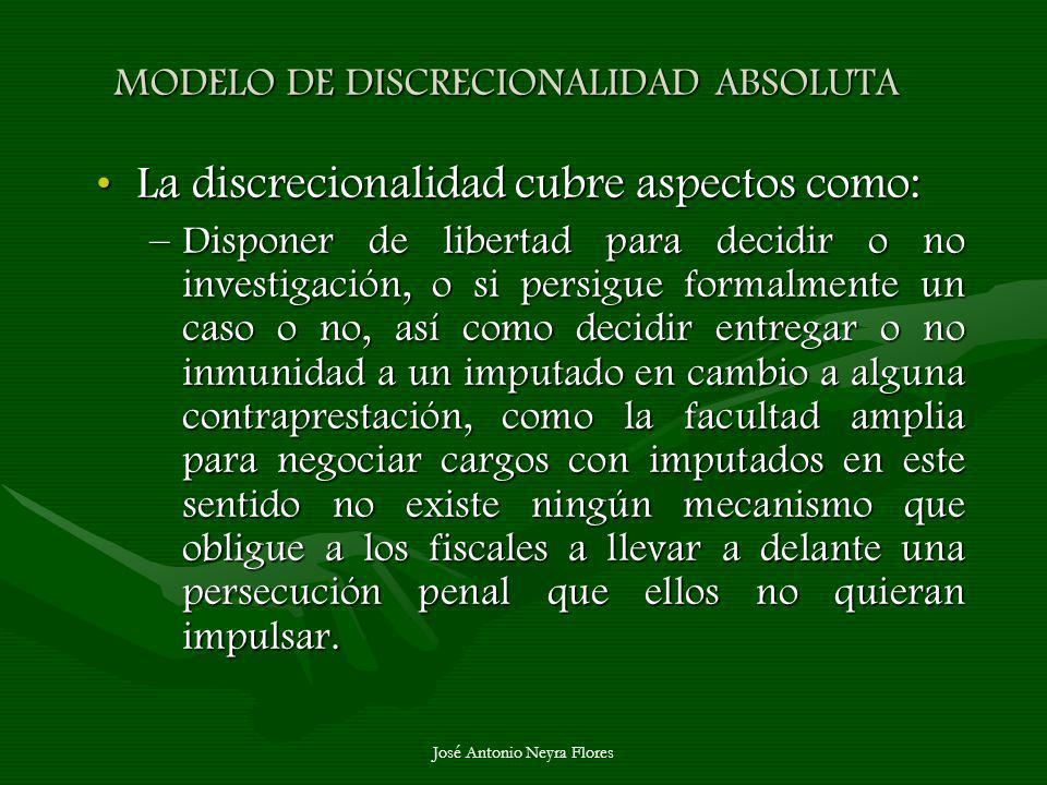 MODELO DE DISCRECIONALIDAD ABSOLUTA