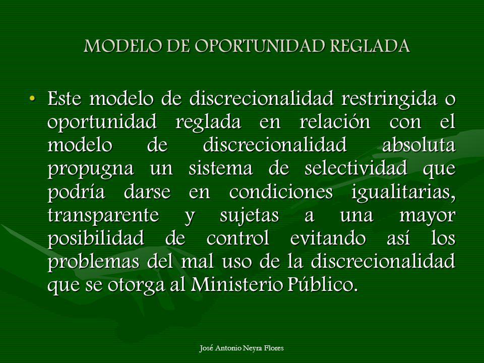 MODELO DE OPORTUNIDAD REGLADA