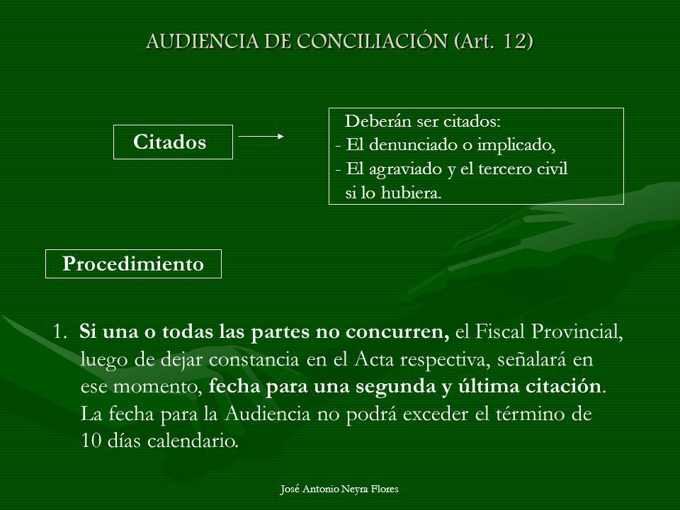 AUDIENCIA DE CONCILIACIÓN (Art. 12)