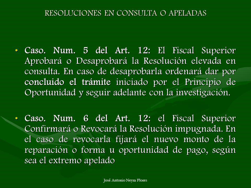 RESOLUCIONES EN CONSULTA O APELADAS
