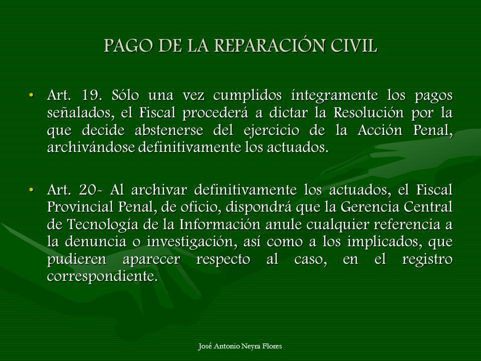 PAGO DE LA REPARACIÓN CIVIL