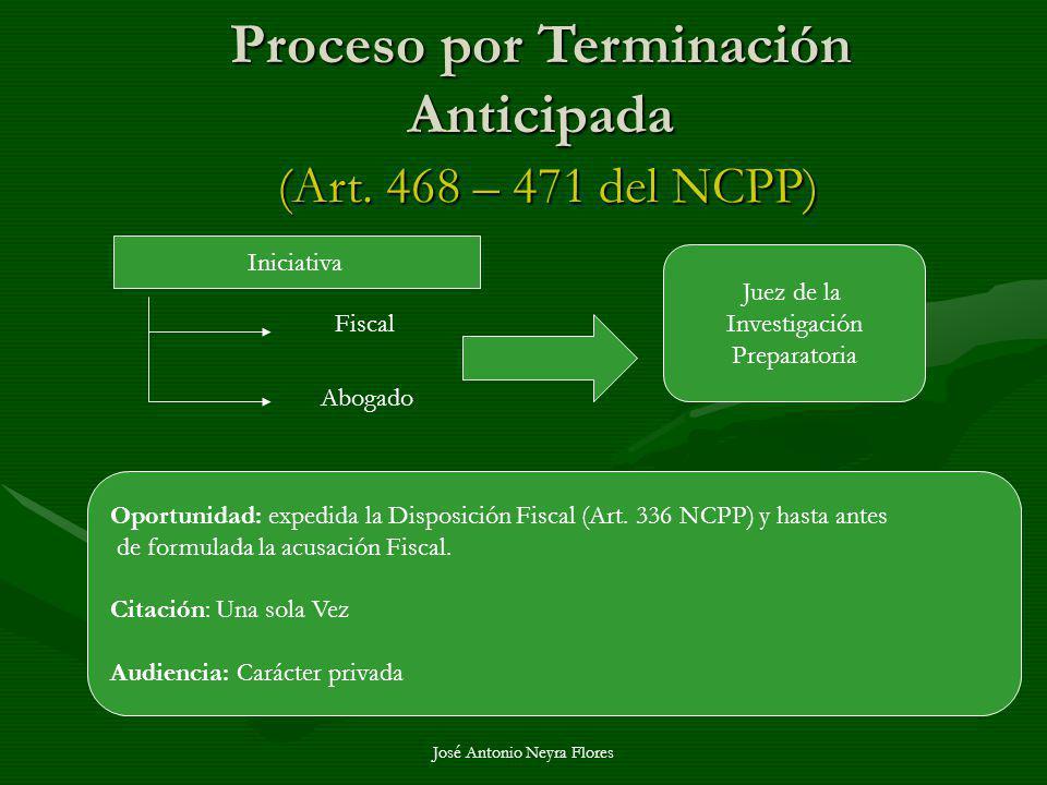 Proceso por Terminación Anticipada (Art. 468 – 471 del NCPP)