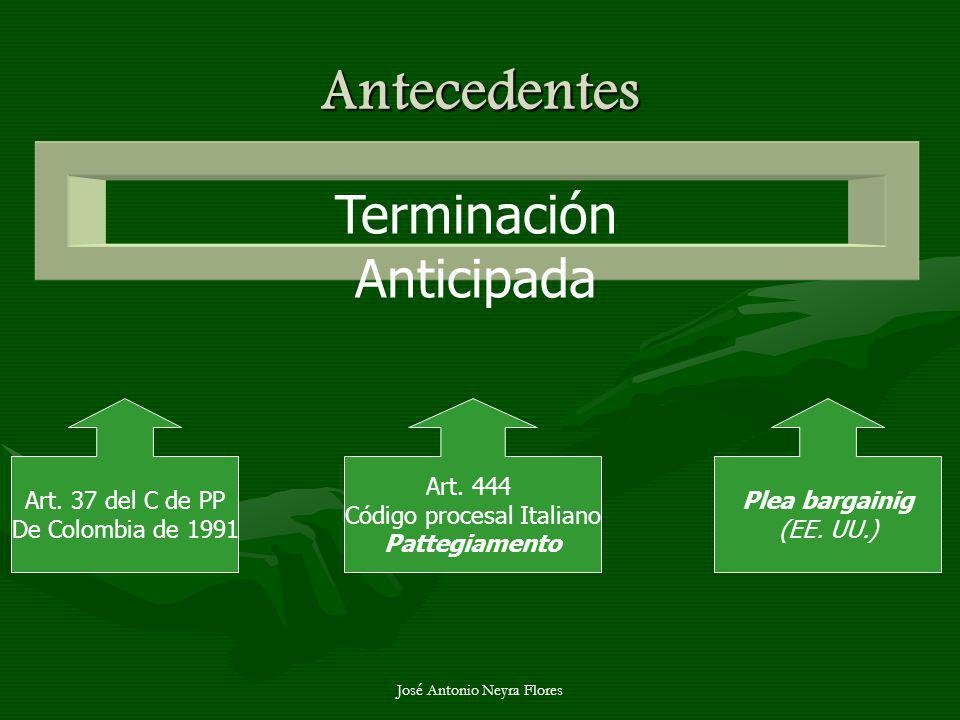 Antecedentes Terminación Anticipada Art. 37 del C de PP