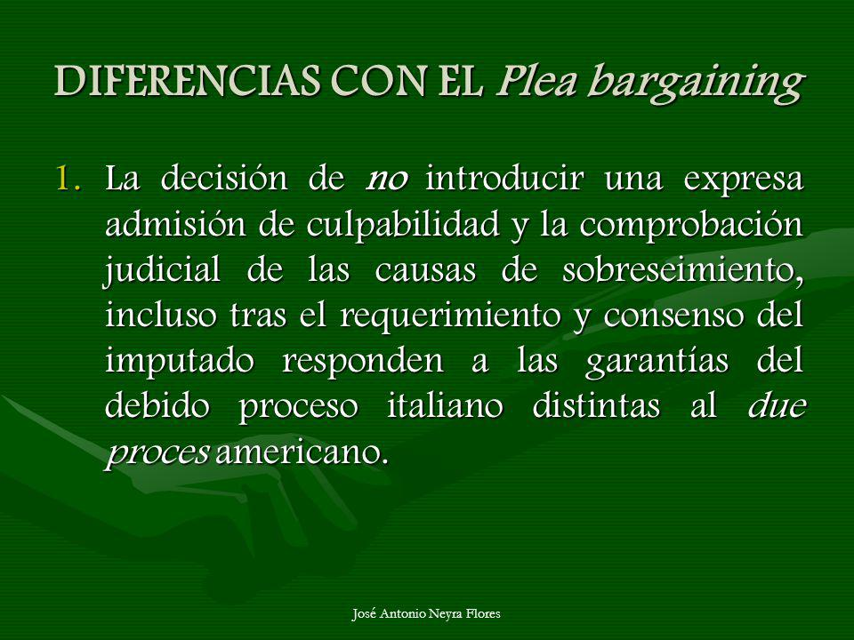 DIFERENCIAS CON EL Plea bargaining