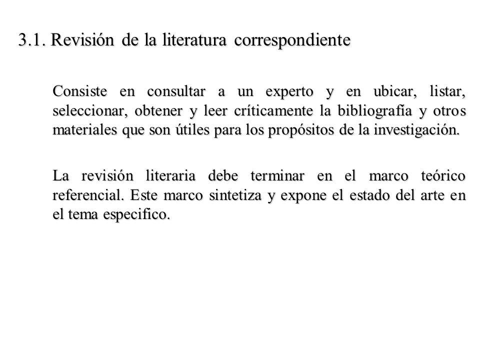 3.1. Revisión de la literatura correspondiente
