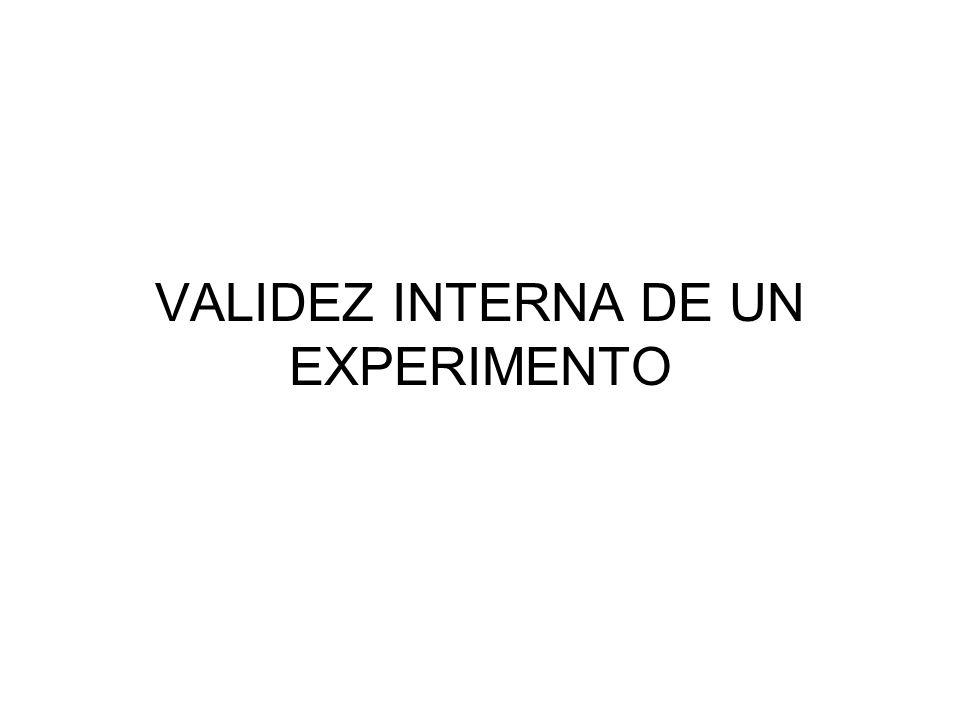 VALIDEZ INTERNA DE UN EXPERIMENTO