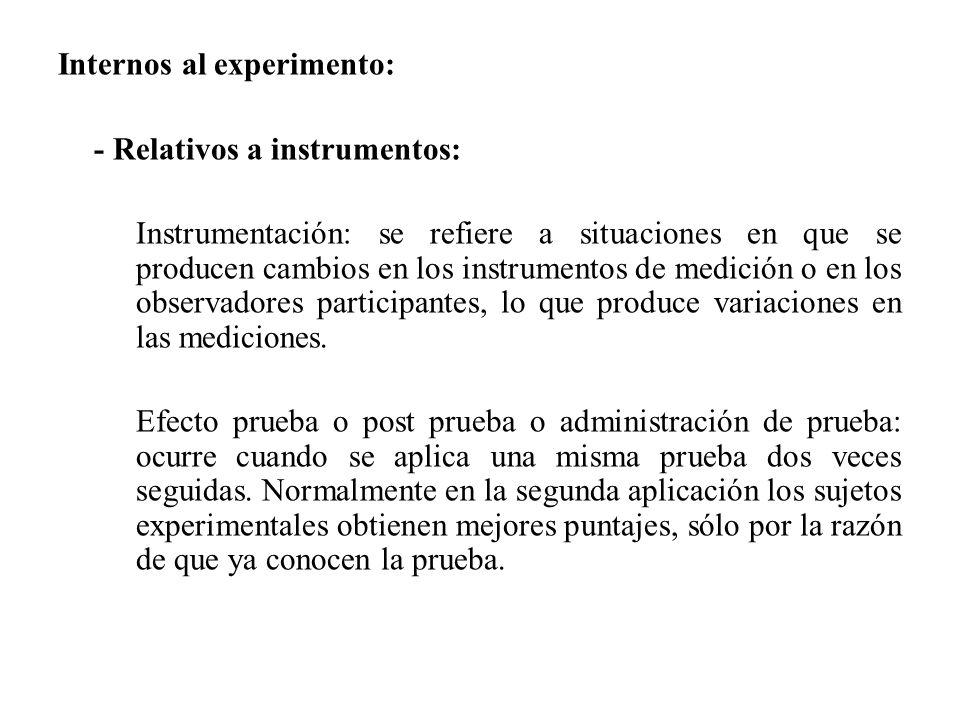 Internos al experimento: