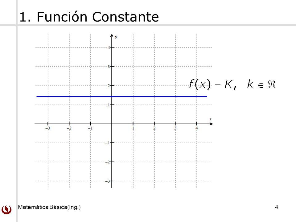1. Función Constante Matemática Básica(Ing.)
