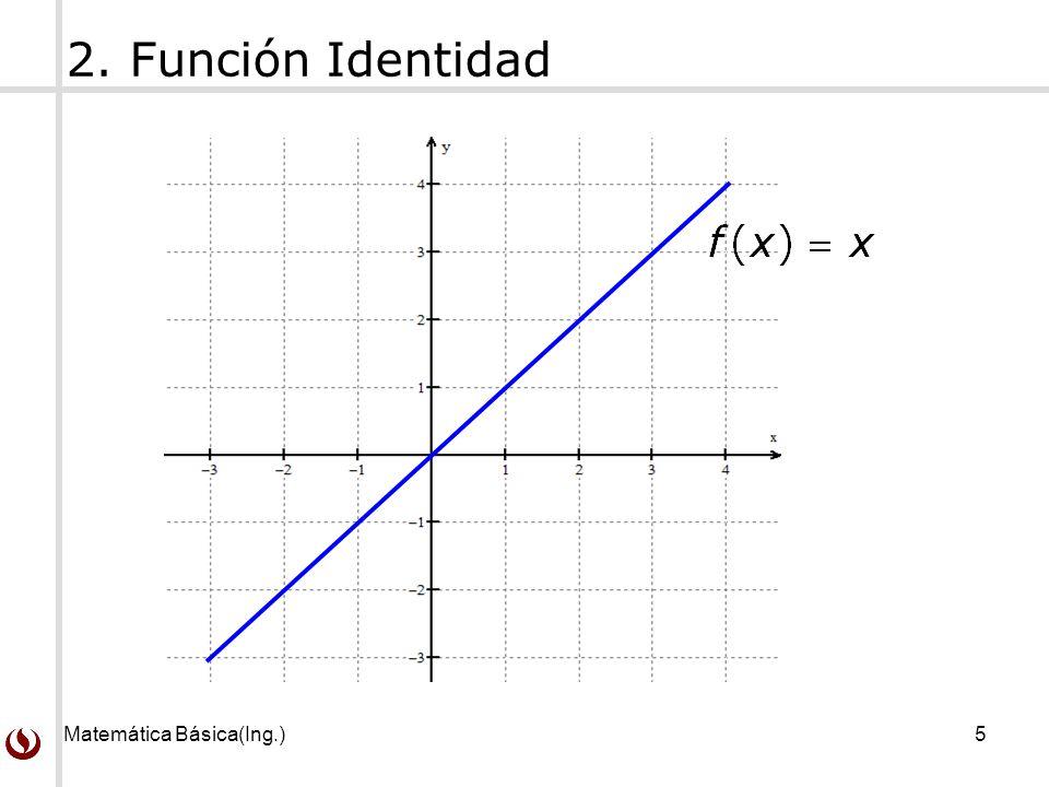 2. Función Identidad Matemática Básica(Ing.)
