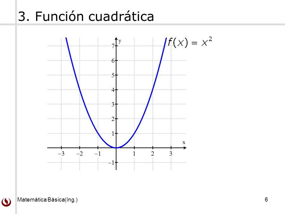3. Función cuadrática Matemática Básica(Ing.)
