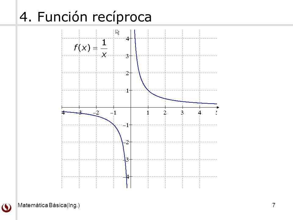 4. Función recíproca Matemática Básica(Ing.)
