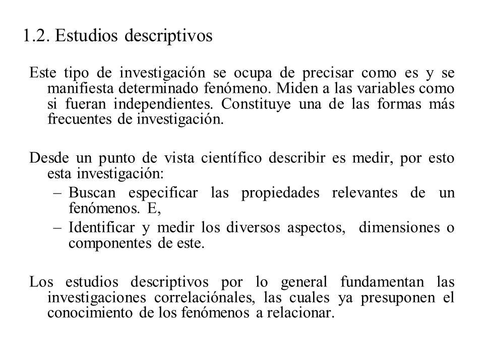 1.2. Estudios descriptivos