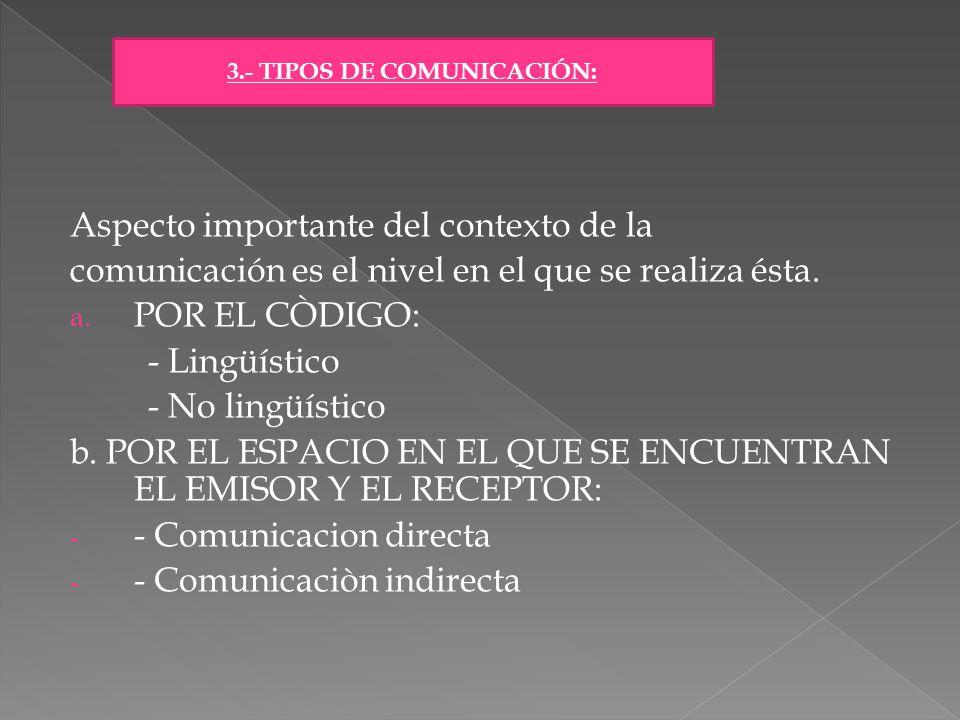 3.- TIPOS DE COMUNICACIÓN: