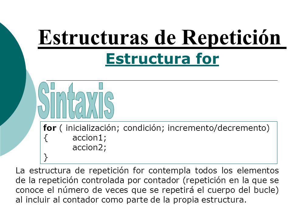 Estructuras de Repetición