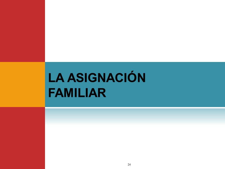 LA ASIGNACIÓN FAMILIAR