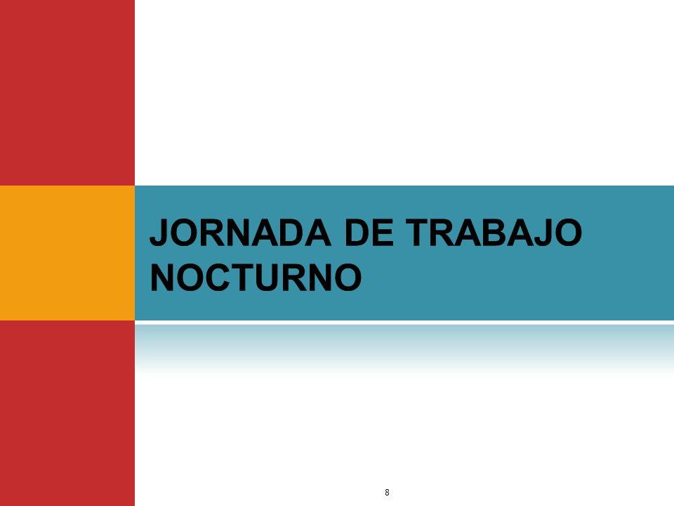 JORNADA DE TRABAJO NOCTURNO