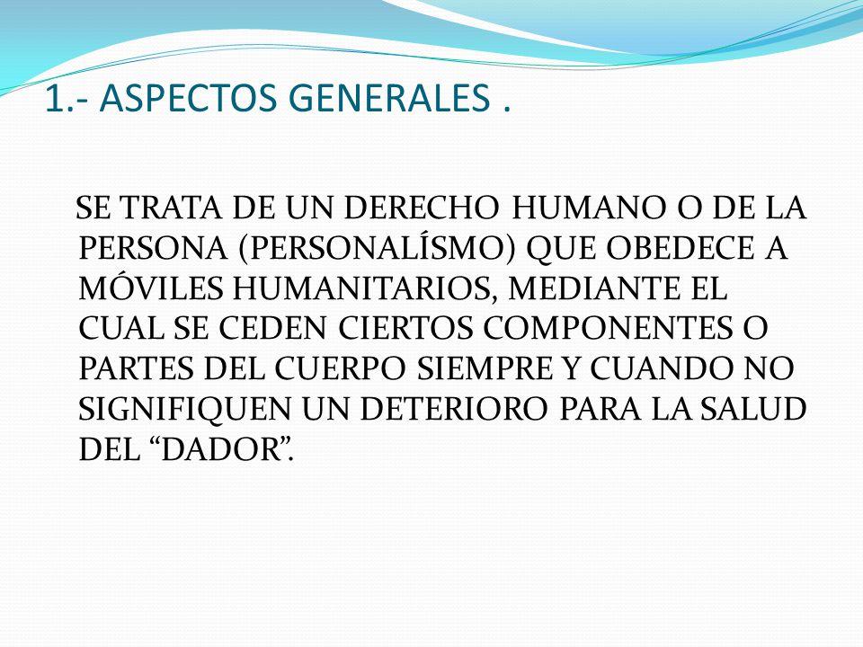 1.- ASPECTOS GENERALES .