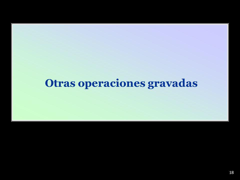 Otras operaciones gravadas