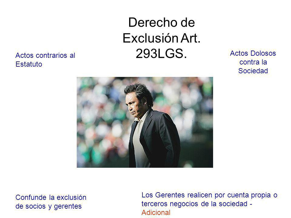 Derecho de Exclusión Art. 293LGS.