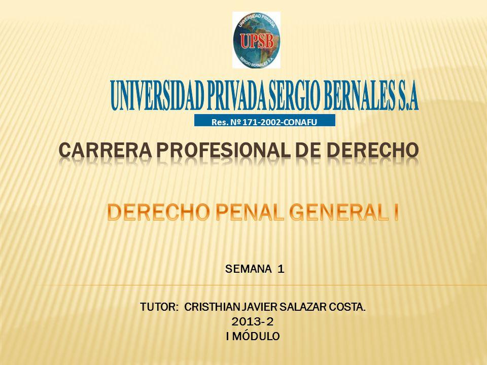 CARRERA PROFESIONAL DE DERECHO