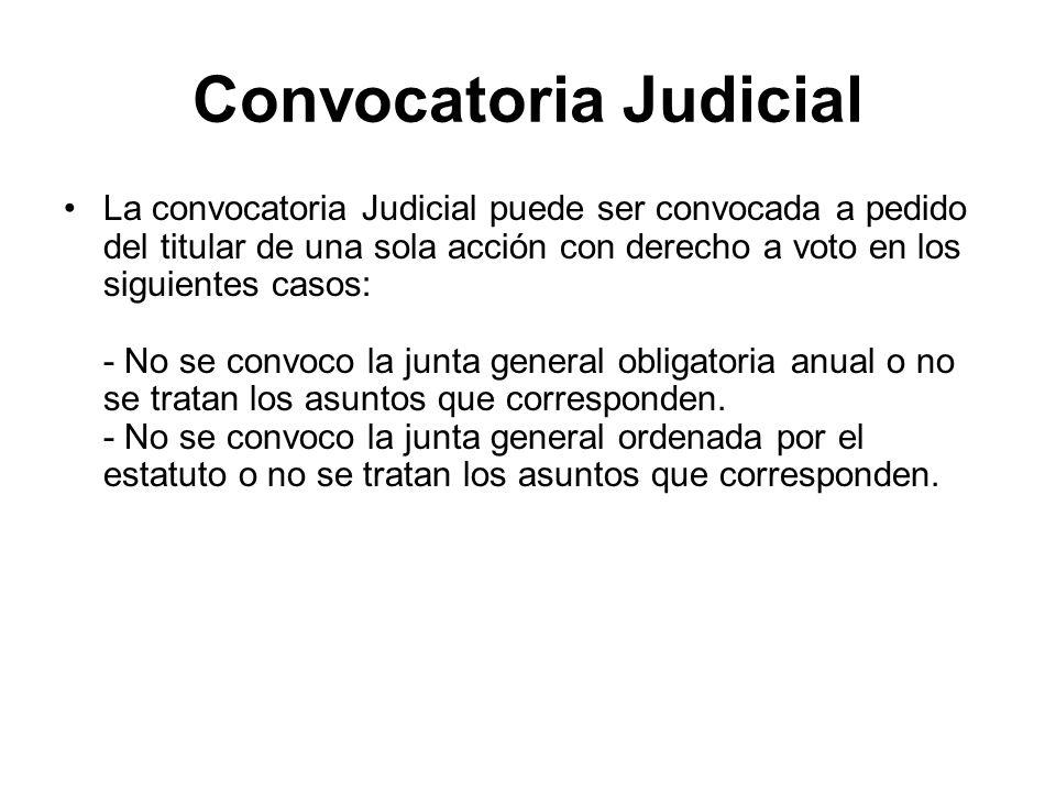 Convocatoria Judicial