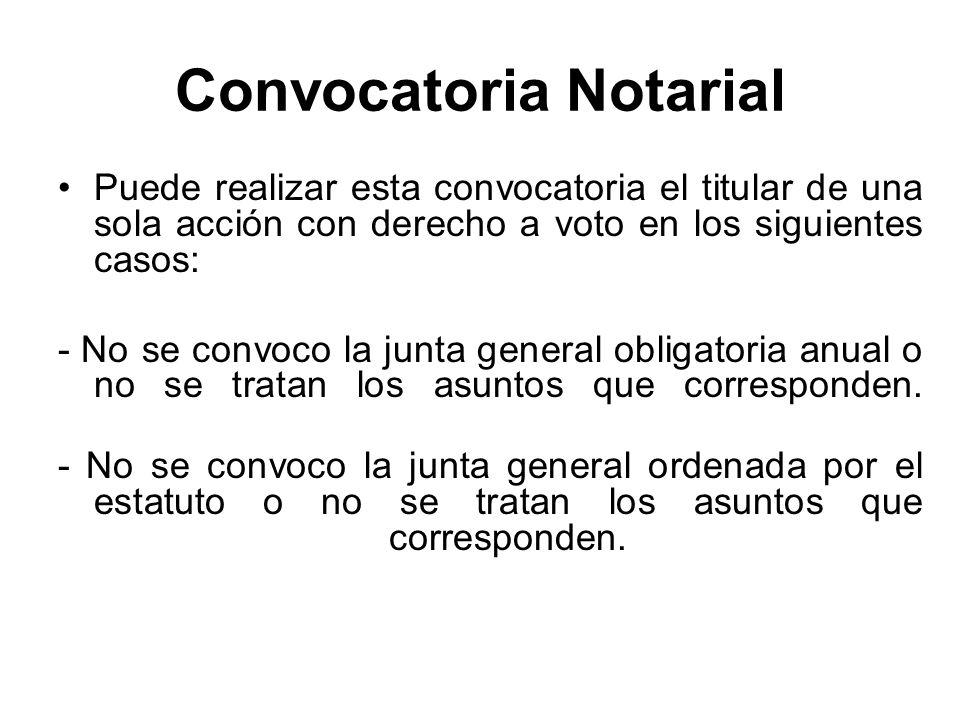 Convocatoria Notarial