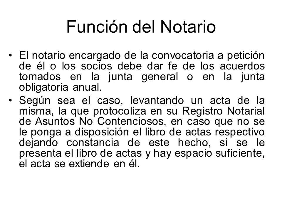 Función del Notario